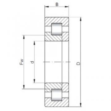 80 mm x 170 mm x 68,3 mm  ISO NUP3316 cylindrical roller bearings