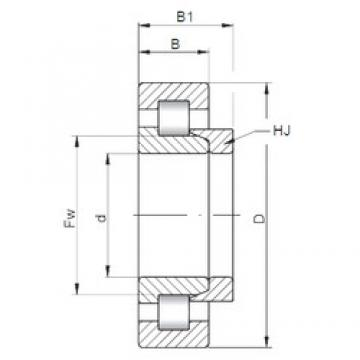 180 mm x 380 mm x 75 mm  ISO NH336 cylindrical roller bearings