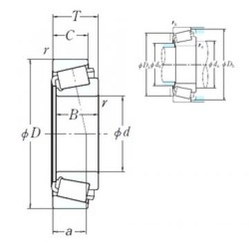 346,075 mm x 469,9 mm x 55,562 mm  NSK EE161363/161850 cylindrical roller bearings